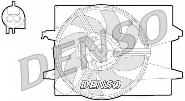 Вентилятор охлаждения двигателя DENSO DER10004 - изображение