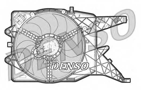 Вентилятор охлаждения двигателя DENSO DER20011 - изображение