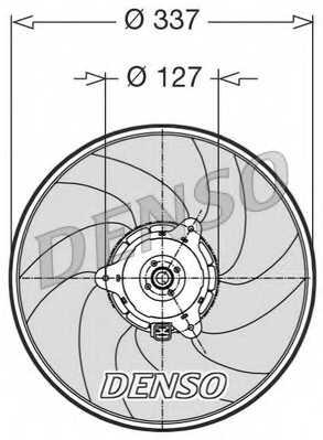Вентилятор охлаждения двигателя DENSO DER21002 - изображение
