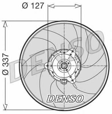 Вентилятор охлаждения двигателя DENSO DER21003 - изображение