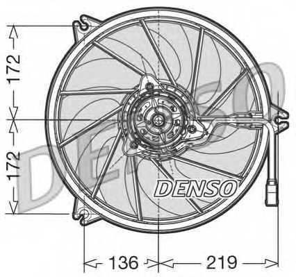 Вентилятор охлаждения двигателя DENSO DER21007 - изображение