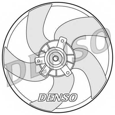 Вентилятор охлаждения двигателя DENSO DER21011 - изображение