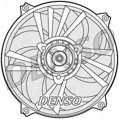 Вентилятор охлаждения двигателя DENSO DER21013 - изображение