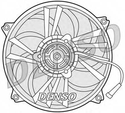 Вентилятор охлаждения двигателя DENSO DER21014 - изображение