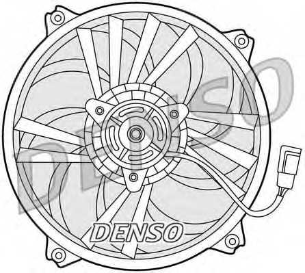 Вентилятор охлаждения двигателя DENSO DER21015 - изображение