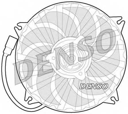 Вентилятор охлаждения двигателя DENSO DER21017 - изображение