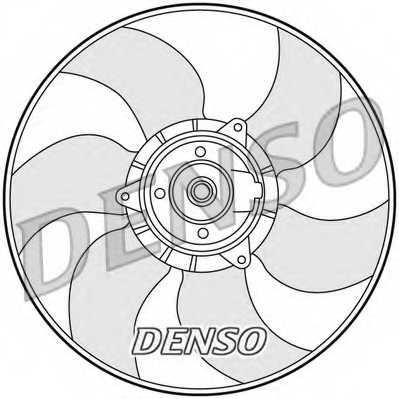Вентилятор охлаждения двигателя DENSO DER23001 - изображение
