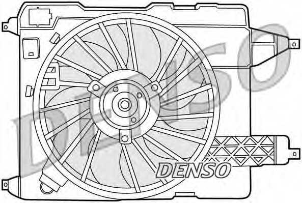 Вентилятор охлаждения двигателя DENSO DER23002 - изображение