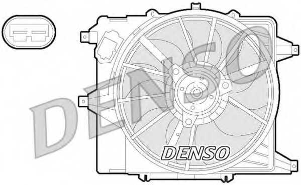 Вентилятор охлаждения двигателя DENSO DER23003 - изображение