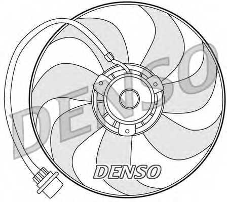 Вентилятор охлаждения двигателя DENSO DER32001 - изображение