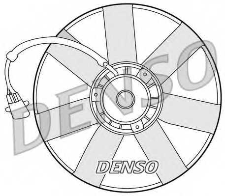 Вентилятор охлаждения двигателя DENSO DER32002 - изображение