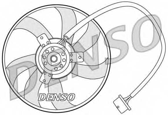 Вентилятор охлаждения двигателя DENSO DER32003 - изображение