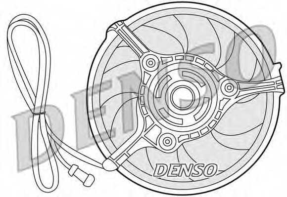 Вентилятор охлаждения двигателя DENSO DER32008 - изображение
