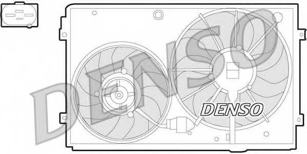 Вентилятор охлаждения двигателя DENSO DER32011 - изображение