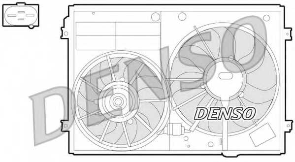 Вентилятор охлаждения двигателя DENSO DER32012 - изображение