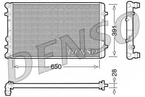 Радиатор охлаждения двигателя DENSO DRM02007 - изображение