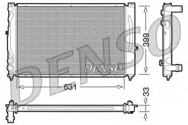 Радиатор охлаждения двигателя DENSO DRM02020 - изображение