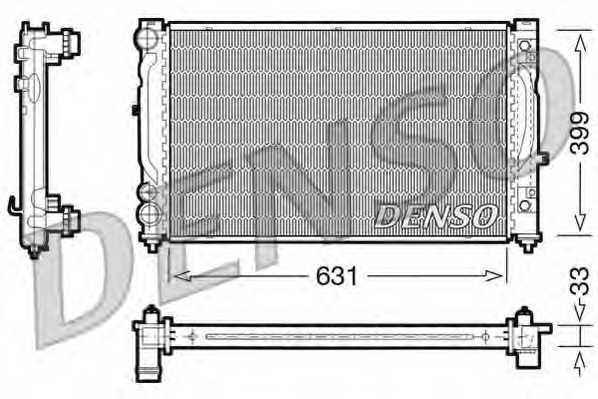 Радиатор охлаждения двигателя DENSO DRM02030 - изображение