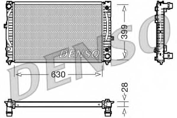 Радиатор охлаждения двигателя DENSO DRM02031 - изображение