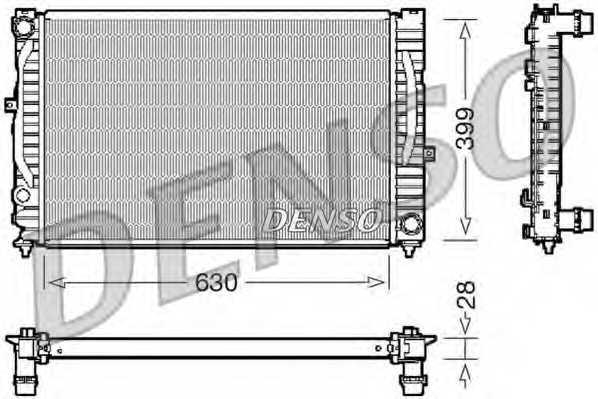 Радиатор охлаждения двигателя DENSO DRM02032 - изображение