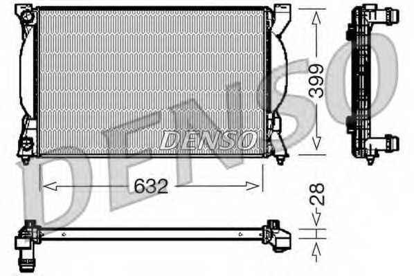 Радиатор охлаждения двигателя DENSO DRM02033 - изображение