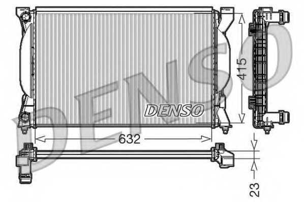 Радиатор охлаждения двигателя DENSO DRM02035 - изображение