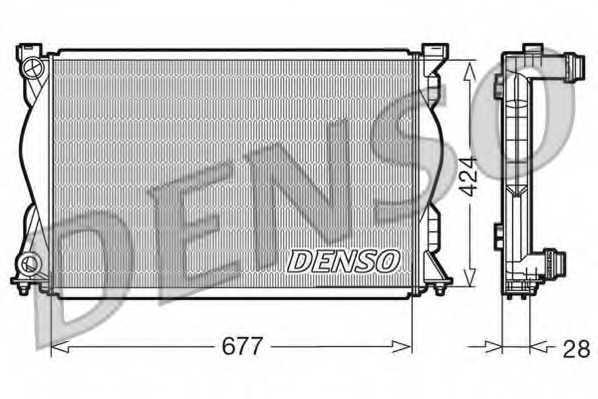Радиатор охлаждения двигателя DENSO DRM02036 - изображение