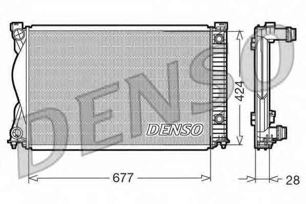 Радиатор охлаждения двигателя DENSO DRM02037 - изображение