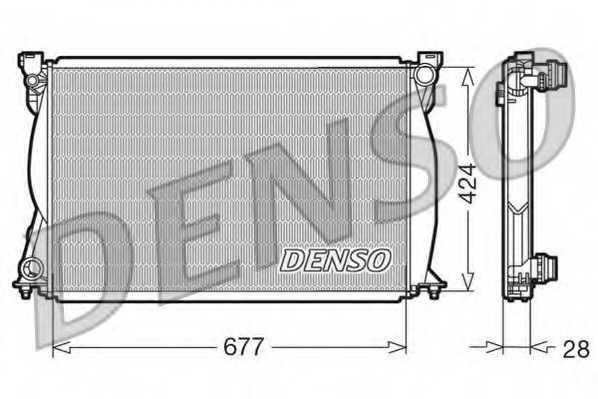 Радиатор охлаждения двигателя DENSO DRM02038 - изображение