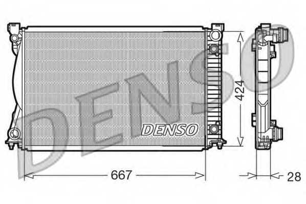 Радиатор охлаждения двигателя DENSO DRM02039 - изображение
