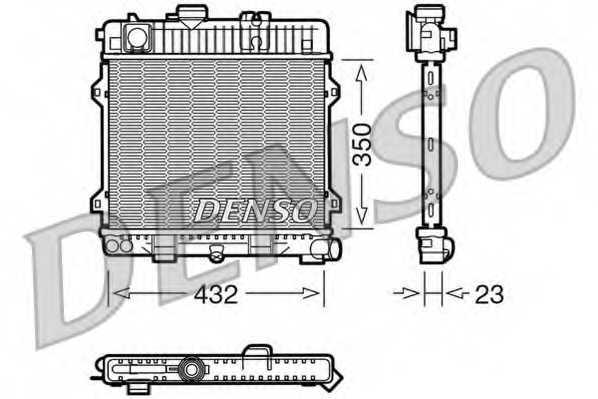 Радиатор охлаждения двигателя DENSO DRM05024 - изображение