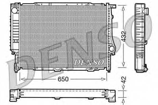 Радиатор охлаждения двигателя DENSO DRM05055 - изображение