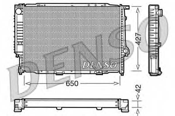 Радиатор охлаждения двигателя DENSO DRM05056 - изображение