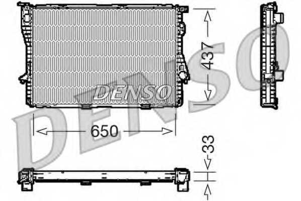 Радиатор охлаждения двигателя DENSO DRM05067 - изображение