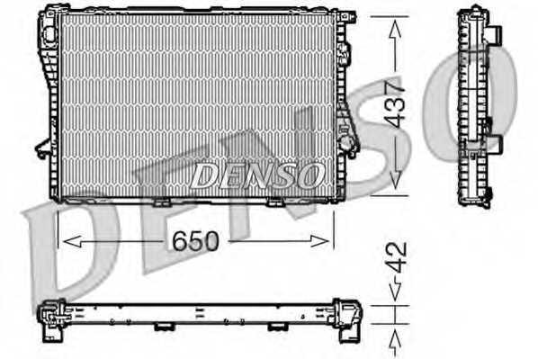 Радиатор охлаждения двигателя DENSO DRM05068 - изображение