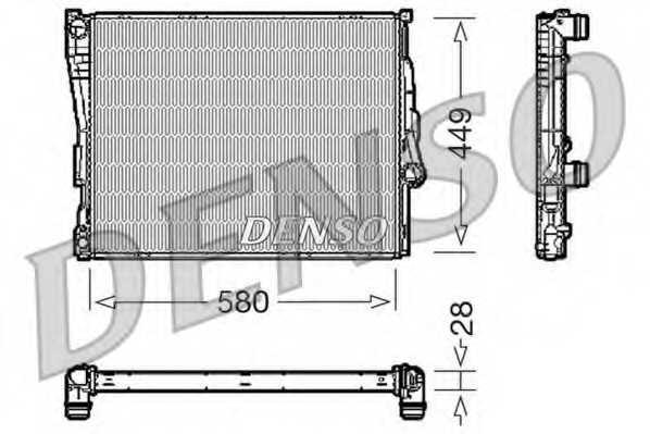 Радиатор охлаждения двигателя DENSO DRM05069 - изображение
