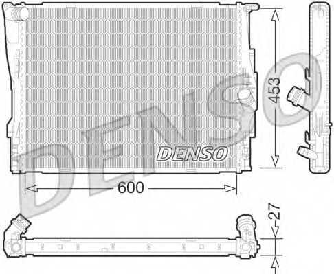 Радиатор охлаждения двигателя DENSO DRM05073 - изображение