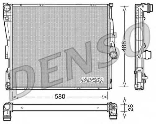 Радиатор охлаждения двигателя DENSO DRM05090 - изображение