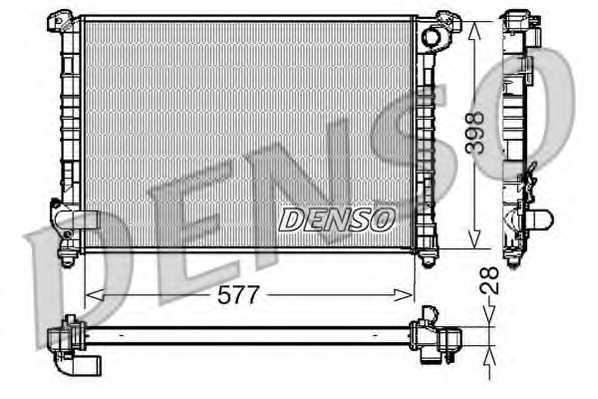 Радиатор охлаждения двигателя DENSO DRM05100 - изображение