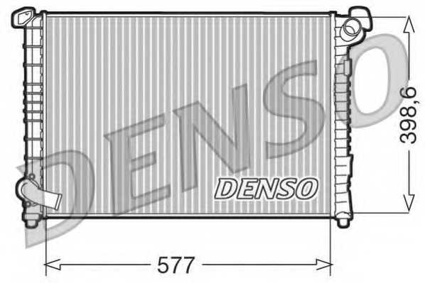 Радиатор охлаждения двигателя DENSO DRM05101 - изображение