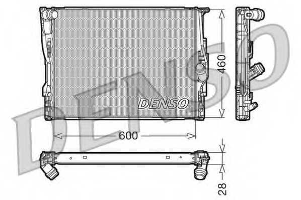 Радиатор охлаждения двигателя DENSO DRM05110 - изображение
