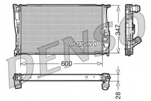 Радиатор охлаждения двигателя DENSO DRM05111 - изображение