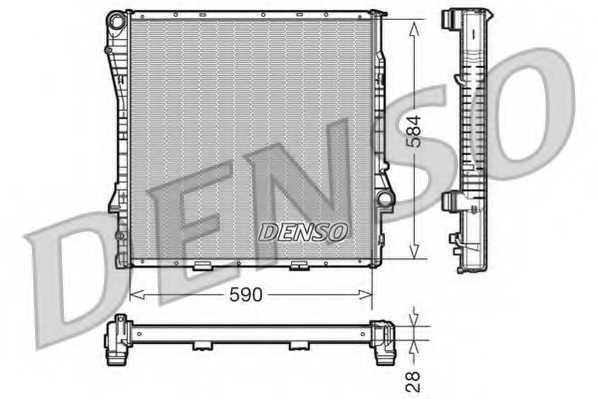 Радиатор охлаждения двигателя DENSO DRM05115 - изображение