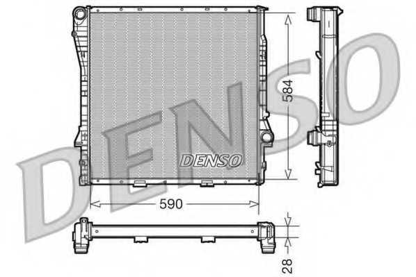 Радиатор охлаждения двигателя DENSO DRM05116 - изображение