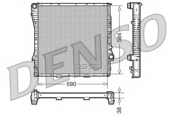 Радиатор охлаждения двигателя DENSO DRM05117 - изображение