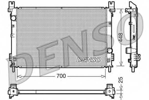Радиатор охлаждения двигателя DENSO DRM06001 - изображение
