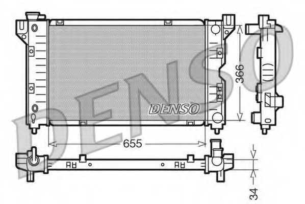 Радиатор охлаждения двигателя DENSO DRM06010 - изображение
