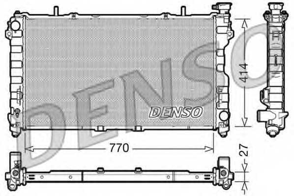 Радиатор охлаждения двигателя DENSO DRM06011 - изображение