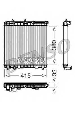 Радиатор охлаждения двигателя DENSO DRM07011 - изображение