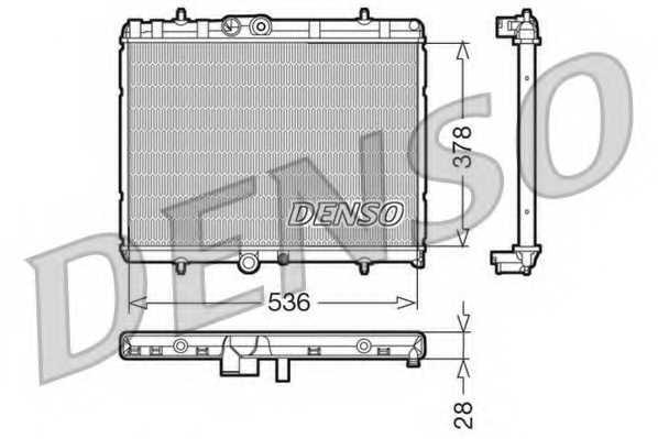 Радиатор охлаждения двигателя DENSO DRM07015 - изображение